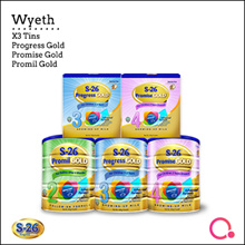 [WYETH] S-26 Promil Gold Progress Gold and Promise Gold 【BUNDLE OF 3!】