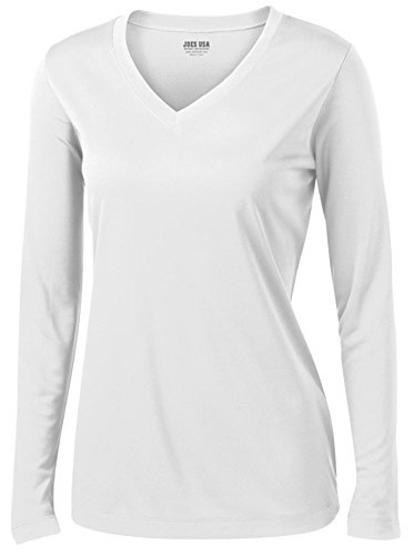 d246788512f Joes USA - Ladies Long Sleeve Moisture Wicking Athletic Shirts Sizes XS-4XL