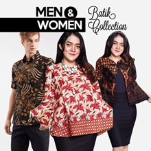 Free Delivery - Men And Women Collection - Atasan Batik Blouse Dress Kulot Wanita dan Kemeja Pria