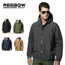 Outdoor Tactical Hard Shell Sport Hiking Jackets Men Military Camouflage Waterproof Windproof Mountaineering Coat