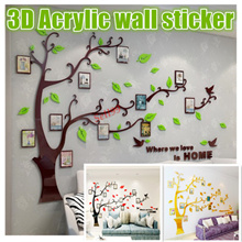 【Trees Photo Frame】Acrylic Material DIY Wall Sticker*Wall Decals*Home Decoration for Kids Room