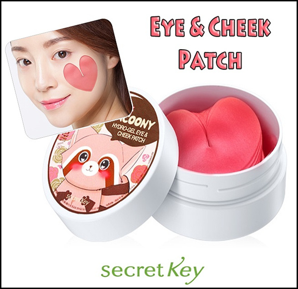 [SECRET KEY] Pink Racoony Hydro-Gel Eye,Cheek Patch 30Set Deals for only Rp181.300 instead of Rp181.300