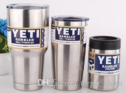YETI Rambler Stainless Steel 12 20 oz 30oz Cups Cooler Tumbler Travel Vehicle Beer Mug Double Wall B