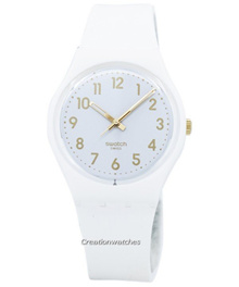 [CreationWatches] Swatch Originals White Bishop Quartz GW164 Unisex Watch
