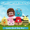 NO Option price!!! BUY1 + FREE1 Children Fluffy Cartoon Backpack [High Quality]