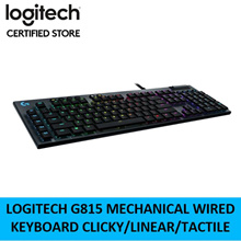 Logitech G815 Mechanical Wired Gaming Keyboard Clicky Linear Tactile Local Warranty 920-009222