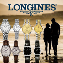 【Lovers Watches】LONGINES Watches 100% Waterproof/Stainless Steel/Leather Strap/For Man and Women