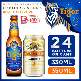 Kirin Ichiban Lager Beer 350ml x 24 Cans Promotion ($67.90 After $12 Coupon!)