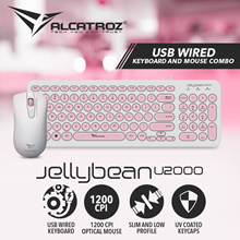 NEW Alcatroz JellyBean U2000 - The New Design Keyboard and Mouse Combo. Slim and Low Profile / UV Coated Keycaps / 1200 CPI Optical Mouse. 2 Years Local Warranty.