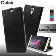Lenovo Phab 2 Phone Case Crazy Horse Leather Mobile Phone Case Lenovo Phab2 PU leather Cover