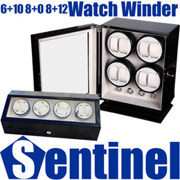 6+10 8+0 8+12 Professional Automatic Battery or DC Powered Watch Winder Watches Box Case Storage