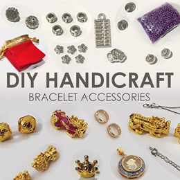 Bracelet accessories. Beads spacers string cords for DIY handicraft and jewelry making