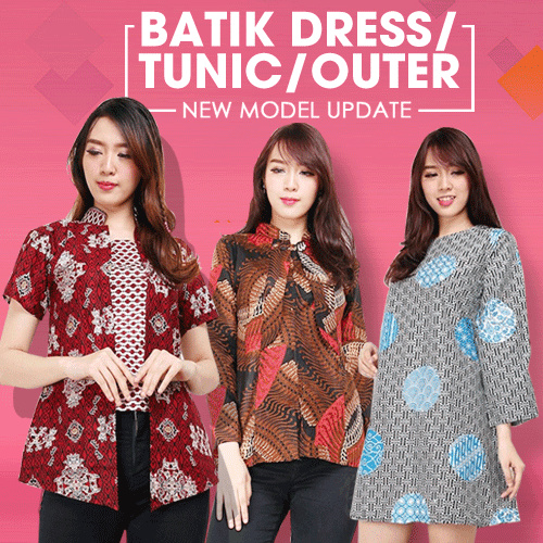 NEW ARRIVAL WOMAN BATIK BLOUSE Deals for only Rp90.000 instead of Rp90.000