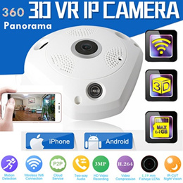 3D Panoramic VR IP Camera *360 Degree *1.3MP *Reso: 1280×960 Wireless CCTV Surveillance , HD Imag