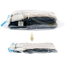 Use Without Air Pump 37*53 New Design Space Saver Travel Compress Vacuum Roll-Up Storage Bag
