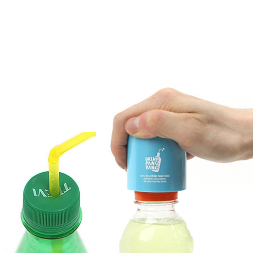 Drink Pang Pang Plastic Bottle Lid Punching For Straw