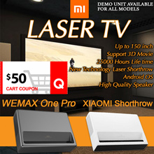 $50 COUPON DISCOUNT❤ XIAOMI WEMAX TV Laser projector short throw 4k android from up to 150 inch