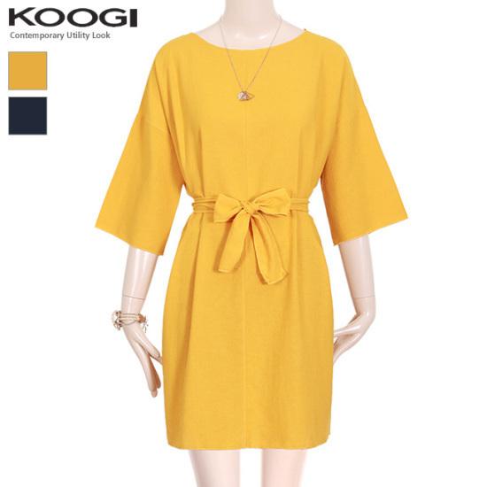 釘宮パクシピッリボンワンピースKK3OP321A 綿ワンピース/ 韓国ファッション