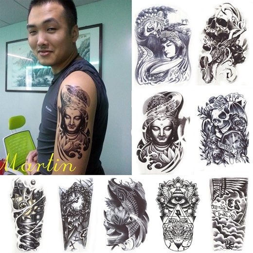 Qoo10 3d Waterproof Body Arm Leg Art Tattoo Sticker Handsome Tatouage Glitte Cosmetics