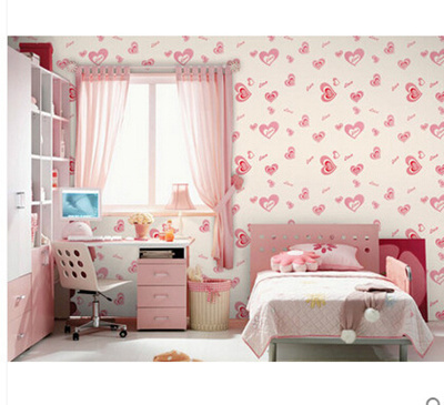Qoo10 - Regards News pvc self-adhesive wallpaper love pink romantic ...