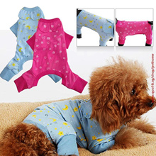 HOT Blue Dog Clothes For Dog  Jumpsuit Pets Dogs Clothing Puppy Pet Dog Shirt Cat Cozy Pajama ropa p