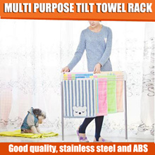 Multi Purpose tilt towel rack/Two colour options (Pink White)/Firmly and Good quality