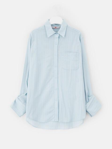 8SECONDS Stripe Back Graphic Shirt - Sky Blue