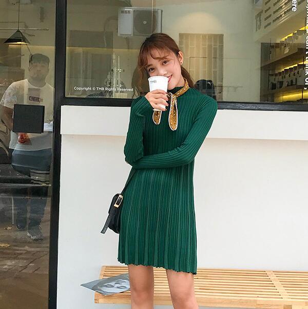 【秋冬ワンピース】レディース セーター ワンピース 編みニット セクシー ニットワンピース エレガントスカート 無地 フィット伸縮性 送料無料  韓国ファッション   柔らかな肌触りで、着心地がよく