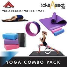 Yoga Combo Pack ★ Yoga Mat ★ Yoga Block ★ Yoga Wheel ★ Foam Rollers