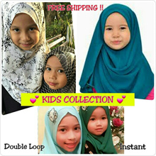* Restock 19/10/18 * Kids Collection | Instant Shawls | Double Loop | Chiffon Printed |