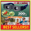 AS SEEN ON TV ~~ ZOOMIES hands-free binoculars you wear like sunglasses ~ sri1