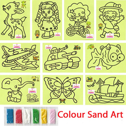 Children Art Craft DIY Colour Sand Art Kids Goodie Bag Children Day Gift Creative Toys