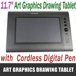 11.7 Art Graphics Drawing Tablet Hot Keys Cordless Digital Pen for PC Laptop Computer 4000LPI 200 RPS 2048 Levels