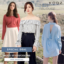 KODZ - Special Deal! Trendy Long Sleeve Blouse Multi Colors Multi Styles - Free Shipping