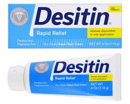 Desitin Diaper Rash Cream Rapid Relief 4 oz (113 g) Expiry Date: 2021