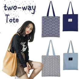 💜 30%OFF + Free gift with every purchase 💜 canvas shoulder bag / weekend handbag / CNY/reversible bag