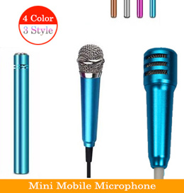 Mini Mobile Microphone GEN 2 ★ High Quality Wired Stereo Condenser Mic With Holder Clip For Singing Karaoke KTV Premium Portable Compatible With iPhone Android