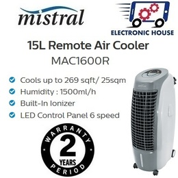 ★ Mistral MAC1600R 15L Remote Evaporative Air Cooler with Ionizer ★ (2 Year Singapore Warranty)