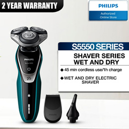 Philips Shaver Series 5000 wet and dry use - S5550 with 2 years international warranty