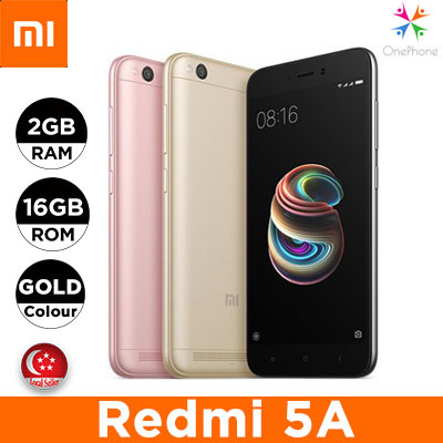 Xiaomi Redmi 5A 16GB/2GB / 5.5 inches / 1 Month Warranty Deals for only S$199 instead of S$0