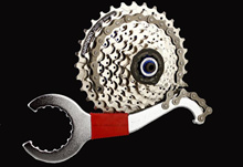 Mountain bike axis tool wrench cassette flywheel fix tail hook repair