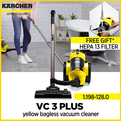 KARCHERKärcher yellow bagless vacuum cleaner VC 3 Plus with Kärcher local warranty | 1.198-128.0