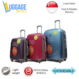 Hardcase 8 Wheel Spinner ABS Expandable Luggage Trolley Case 20/24/28 inch