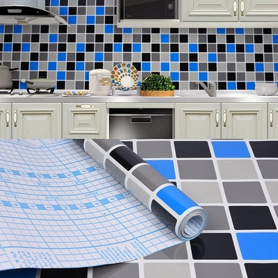 Qoo10 Self Adhesive Wallpaper Kitchen Toilet Cabinet Diy Sticker