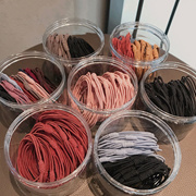[6 Pieces Free Shipping] Rubber Band Womens Hair Tie Simple Korean Headdress 20 Pieces Pack