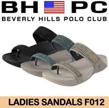 [BHPC] Beverly Hills Polo Club - Ladies Sandals F012. Available: BLACK / TURQUOISE / KHAKI. Guaranteed 100% Authentic Local Seller