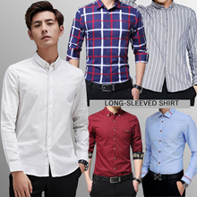 【2019 Happy New Year】 Men Fashion Long-sleeve short sleeve shirt casual