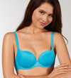 55bf584f2 Qoo10 - blue extreme push up bra and sheer lace low rise panty 2 ...