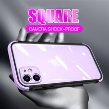 Shockproof Phone Case For iPhone 12 11 Pro Max SE 2020 XR XS Max X 7 8 Plus Camera Protection Clear
