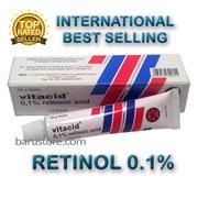 Vitacid Retinol 01% Skincare Cream for Antiaging Acne Wrinkles Blemishes